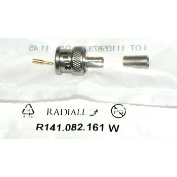 BNC Plug 50Ω Krimp Radiall 3