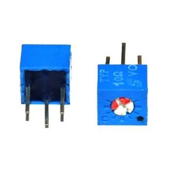 Cermet Instelpotmeter Liggend 500 kΩ