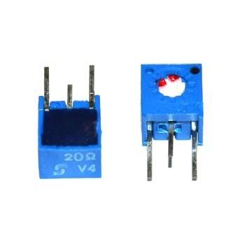 Cermet Instelpotmeter Staand 50 Ω