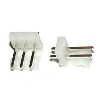 Pin Connector 3,96mm 2 pin Print Recht